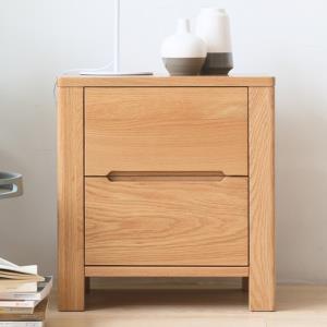 原始原素全实木床头柜北欧简约现代橡木床头储物柜卧室两抽床边柜560元