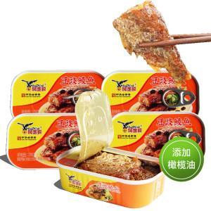 鹰金钱 橄榄油豆豉鲮鱼 100g*5罐 非常下饭  44.9元包邮