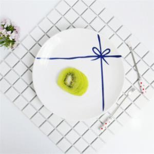 北欧盘子创意早餐盘20cm4个装