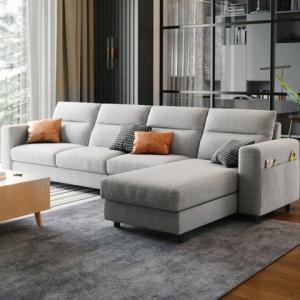 21日0点、历史低价:CHEERS芝华仕1882现代简约可拆洗布艺沙发四人位 3399元包邮