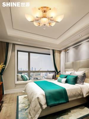 世源现代简约水晶灯led欧式客厅卧室大气餐厅吸顶灯圆形简欧灯饰R 269元