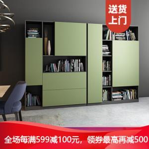 优主意I.Q宫格书柜储物柜客厅半开放创意展示柜可免费定制尺寸�\橡豆绿1210mm*1650mm*350mm1499元