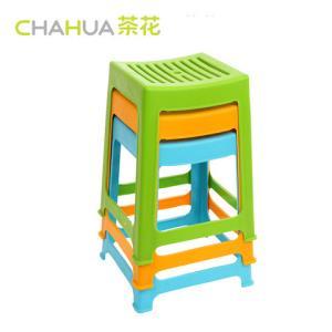茶花塑料凳家用加厚高凳客厅朔料简约椅子登子餐桌高板凳经济型可摞叠板凳熟胶凳子*5件+凑单品128.5元(合25.7元/件)