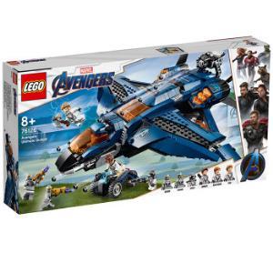 乐高(LEGO)积木超级英雄漫威复仇者联盟昆式战斗机(决战版)8岁+76126儿童玩具男孩女孩生日礼物4月上新 669元