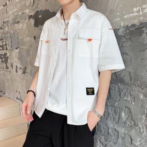 北津人男士短袖衬衫韩版潮流衬衣休闲帅气5五分袖寸衫男装 118元