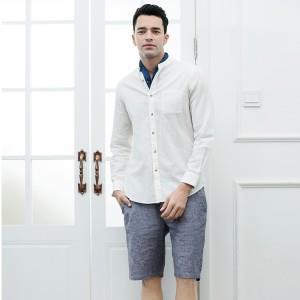 InteRight 法国雨露麻棉 男士长袖衬衫 *2件 73.5元(合36.75元/件)