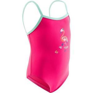 """婴儿连体式泳衣PinkMadina带""""火烈鸟""""印花 19.9元"""