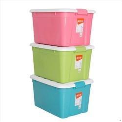 禧天龙收纳箱塑料特大号三件套有盖衣服汽车载储物儿童玩具整理 74元