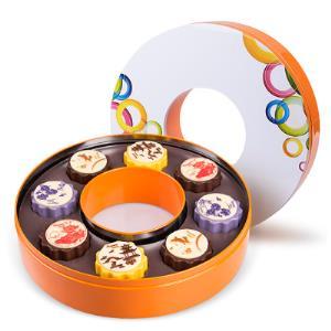 哈比利冰皮月饼8枚礼盒装巧克力  券后68元