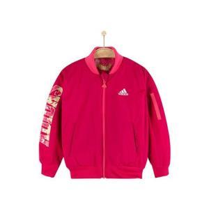 adidaskids阿迪达斯女小童粉色迷彩梭织夹克0-11岁CF9707 49元