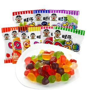 旺旺.旺仔QQ糖20g*20包软糖果汁软糖夹心水果球水果糖Q软混合口味20包 21.8元