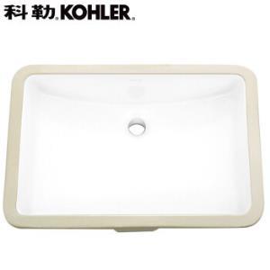 KOHLER科勒拉蒂娜方形台下盆陶瓷面盆2215T 499元