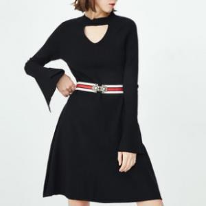 ONLY118146524女士显瘦长袖针织连衣裙 100元包邮