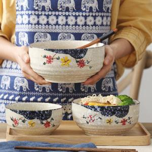 日式陶瓷家用韩式饭碗汤碗拉面碗 14.9元