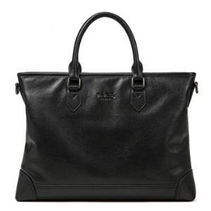 pierrecardin皮尔・卡丹男士商务手提包时尚横款单肩包公文包大包J8A105-080102A黑色 315元