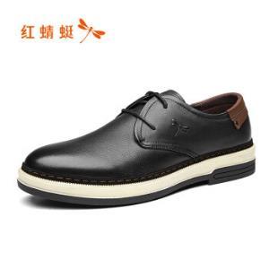 红蜻蜓(REDDRAGONFLY)时尚舒适休闲皮鞋男鞋WTA73681/82/83黑色199元