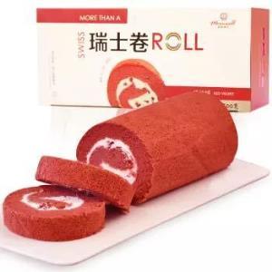麦香威尔瑞士卷红丝绒口味300g 12元