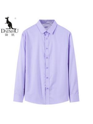 袋鼠(DAISHU)2019春夏新品中年男士纯色简约商务休闲长袖衬衫DS33E1CB013FV2 60元