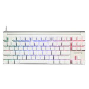 樱桃(CHERRY)MX8.0G80-3888HYAEU-9机械键盘有线游戏键盘七夕情人节87键RGB背光粉色樱桃红轴1679元(需用券)