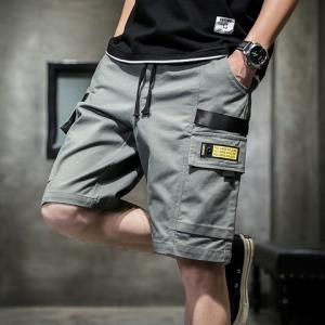 MAISULANG夏季潮流多口袋纯棉工装裤*2件 118元(合59元/件)