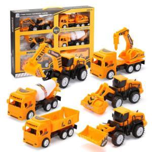 儿童超大号工程车惯性挖掘机六只工程队(彩盒装)*2件 34元(合17元/件)