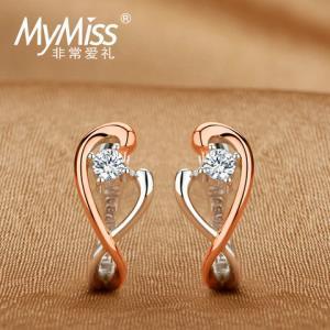 Mymiss非常爱礼吻吻幸福925银镀铂金耳钉 198元(需用券)