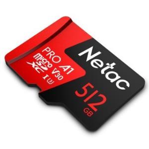PLUS会员:Netac朗科至尊PROmicroSDXCA1UHS-IU3TF存储卡512GB 379元(需用券)