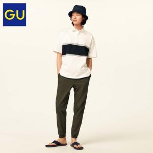 GU极优314449男装麻混纺束脚裤 79元