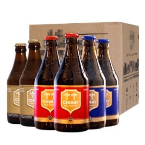 智美蓝帽/红帽/金帽比利时进口精酿啤酒混装修道院啤酒330ml*6瓶*2件 178.2元(合89.1元/件)