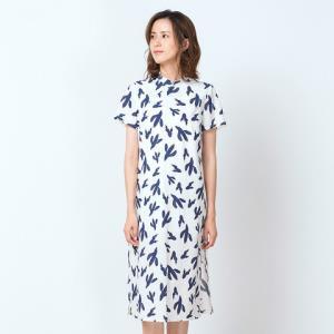 Clothscenery布景282110016071女士开叉系扣连衣裙 299元