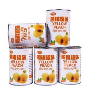 信钻黄桃罐头糖水罐头砀山桃条烘焙水果罐头整箱多省包邮425g*5罐 19.9元(需用券)