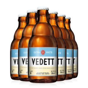 6瓶比利时进口精酿啤酒督威家族白熊小麦啤中浓度熟啤酒白啤330ml 66元(需用券)
