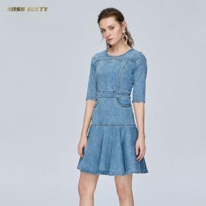 MissSixty691DJ8220000女士高腰复古牛仔连衣裙 845元