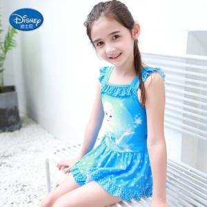 迪士尼SPQ10061D冰雪奇缘系列连体裙式泳衣140 44元