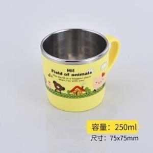 韩国不锈钢小熊单耳水杯250ml 19.9元