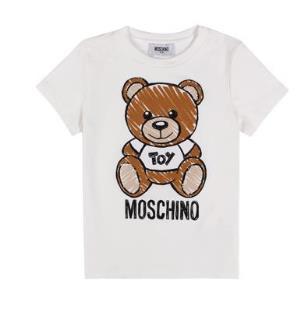莫斯奇诺MOSCHINO奢侈品童装男女款棉质短袖T恤小熊圆领半袖HPM01ILBA001006314A/14岁/164cm*3件 1002.9元(合334.3元/件)