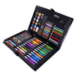 铭塔(MINGTA)86件套装绘画工具盒文具画板写字板玩具画笔木盒件可水洗*6件 136元(合22.67元/件)