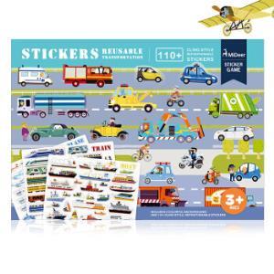 弥鹿(MiDeer)儿童益智玩具趣味场景静电贴纸卡通贴主题全景贴画交通款*6件 124元(合20.67元/件)