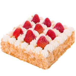 贝思客草莓拿破仑蛋糕新鲜千层酥生日蛋糕1.2磅 99元