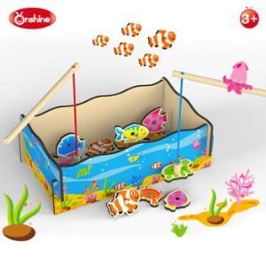 钓鱼类游戏磁性木质玩具钓鱼玩具 39元