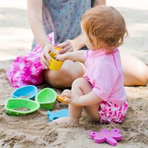 IPLAY带尿布款蜻蜓与花朵粉色儿童泳裤6个月-24个月*5件 95.05元(合19.01元/件)