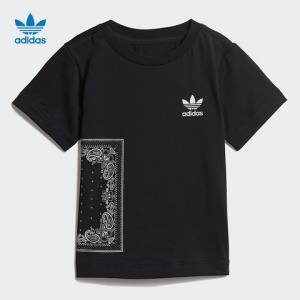 阿迪达斯官方adidas三叶草BANDANATEE婴童短袖上衣DW3854 119元