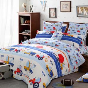 多喜爱纯棉四件套卡通床品儿童全棉套件床上用品卡布工程师1.2-1.8米 179元包邮