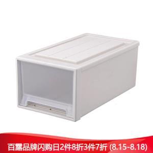 百露抽屉式收纳箱收纳柜透明内衣收纳盒塑料整理箱宝宝储物衣柜床头柜D3023加厚款*3件 189元(合63元/件)