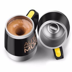 懒人自动搅拌磁力水杯创意电动磁力不锈钢咖啡杯马克杯子磁化旋转水杯实用便携304不锈钢内胆养生水杯黑色 58.77元