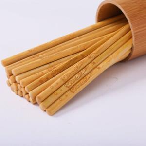 年年有余无漆无蜡竹筷子竹雕刻筷子不易发霉家用酒店用竹筷子花型随机*2件    14.86元(合7.43元/件)