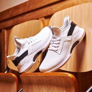 361°男士运动鞋2019春夏季新款361°休闲鞋男鞋时尚百搭黑色鞋子潮 94.2元
