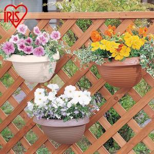 爱丽思IRIS凸纹壁挂花盆园艺可挂盆环保塑料花盆2.5L 16元