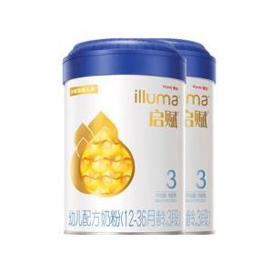 惠氏启赋(Wyethilluma)3段奶粉爱尔兰进口12-36月幼儿配方900克*2罐装 456元