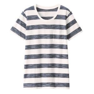 无印良品MUJI女式粗细不均天竺编织圆领短袖T恤 39元